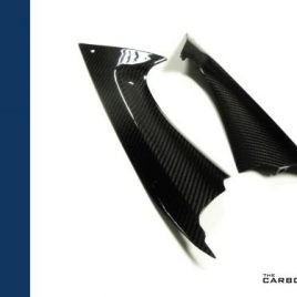 YAMAHA YZF R6 CARBON FIBRE AIR INTAKE COVERS RAM AIR INFILLS 2008-2016