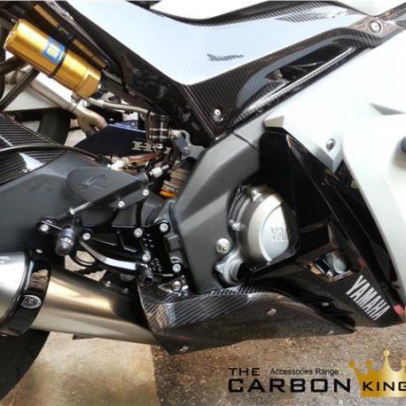 THE CARBON KING YAMAHA YZFR125 CARBON FIBRE LOWER BELLY PANS FAIRING FIBER PAIR