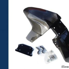THE CARBON KING YAMAHA YZFR125 CARBON FIBRE FRONT MUDGUARD UP TO 2013 FIBER