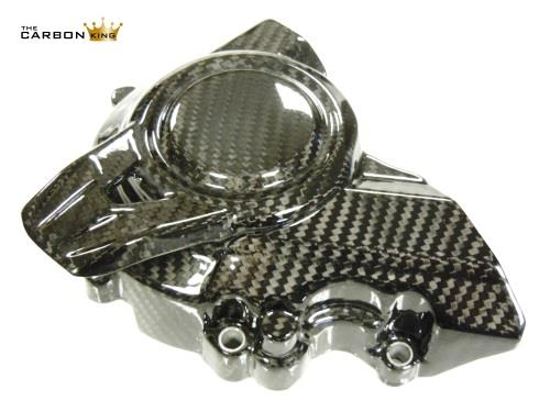 KAWASAKI Z900 2017 ONWARDS CARBON FIBRE SPROCKET COVER IN TWILL GLOSS WEAVE