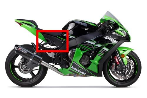 KAWASAKI ZX10R 2016 ON CARBON FIBRE REAR SEAT UNIT SIDE PANELS IN TWILL FIBRE