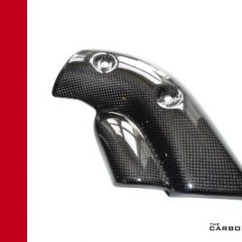 DUCATI 748/916/996/998 CARBON FIBRE EXHAUST GUARD IN PLAIN WEAVE