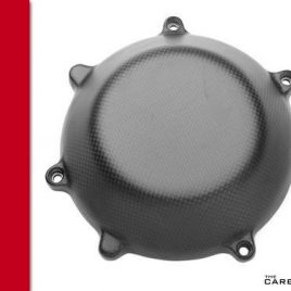 DUCATI CARBON FIBRE DRY CLUTCH COVER CLOSED STYLE IN MATT PLAIN WEAVE