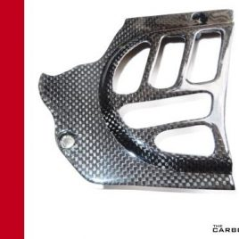 DUCATI CARBON FIBRE SPROCKET COVER (FITS VARIOUS MODELS SEE DESCRIPTION) IN PLAIN WEAVE
