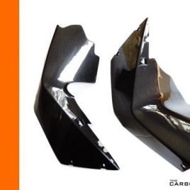 KTM RC8/RC8R CARBON FIBRE MIDDLE FAIRING UPRIGHTS IN PLAIN WEAVE