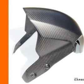 KTM RC8R 2012 ON CARBON FIBRE FRONT MUDGUARD IN MATT TWILL WEAVE