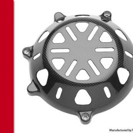 DUCATI CARBON FIBRE DRY CLUTCH COVER STAR STYLE IN PLAIN WEAVE