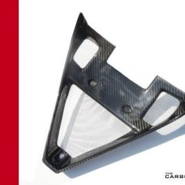 DUCATI 848/1098/1198 CARBON FIBRE RADIATOR 'V' GUARD IN TWILL WEAVE