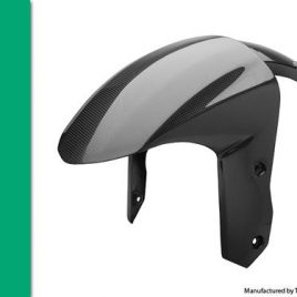 KAWASAKI ZX10R 2008-10 CARBON FRONT MUDGUARD IN PLAIN WEAVE
