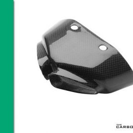 KAWASAKI ZX6R 2007-08 CARBON FIBRE EXHAUST TIP COVER IN PLAIN WEAVE