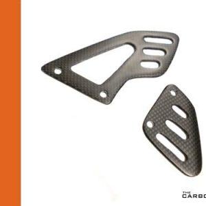 APRILIA RSV4 CARBON FIBRE RIDER'S HEEL GUARDS IN PLAIN MATT WEAVE (SATIN)