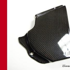 DUCATI 749/999 (PLUS OTHER MODELS) CARBON FIBRE SPROCKET COVER IN PLAIN WEAVE
