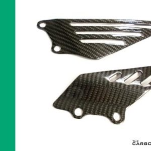 KAWASAKI ZZR1400 ZX14R 2006-14 CARBON FIBRE HEEL GUARDS IN TWILL WEAVE
