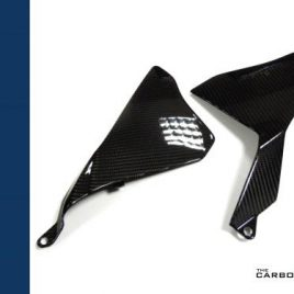YAMAHA R1 2015 TO 2019 CARBON FIBRE UPPER MIDDLE SIDE FAIRINGS IN TWILL WEAVE