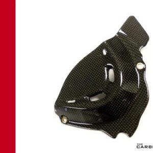 DUCATI PANIGALE 1299 CARBON SPROCKET COVER IN PLAIN GLOSS WEAVE