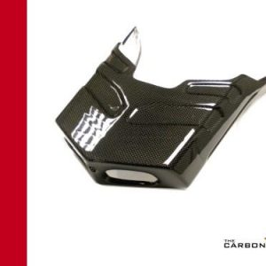 DUCATI 749/999 CARBON STANDARD EXHAUST COVER IN PLAIN WEAVE