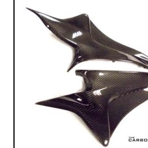 HONDA CBR600RR 2007-12 CARBON LOWER SEAT SIDE PANELS IN TWILL WEAVE