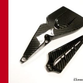 DUCATI XDIAVEL CARBON ENGINE CAMBELT COVERS IN TWILL WEAVE