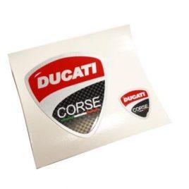 DUCATI CORSE STYLE STICKERS (X2)