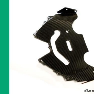KAWASAKI H2/H2R CARBON FIBRE FRONT NOSE UNDERTRAY IN TWILL WEAVE