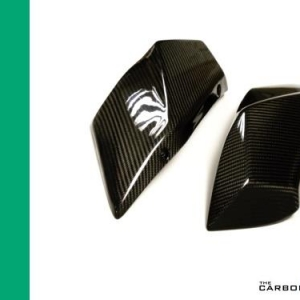 KAWASAKI H2/H2R CARBON SEAT SIDE FAIRING PANELS (PAIR) IN TWILL WEAVE