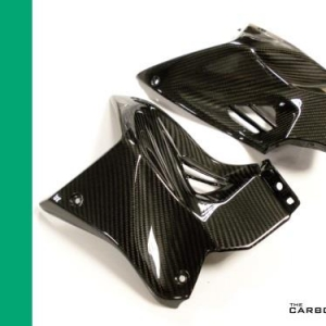 KAWASAKI H2/H2R CARBON FIBRE TANK FRONT SIDE PANELS IN TWILL WEAVE