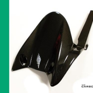 TRIUMPH 765RS STREET TRIPLE CARBON REAR MUDGUARD/CHAIN GUARD IN PLAIN WEAVE